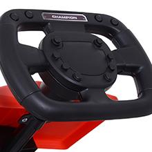 Kinder Go-Kart Tretauto Kinderfahrzeug mit Pedalen 4 Räder Metall + Kunststoff Rot 3 Jahre