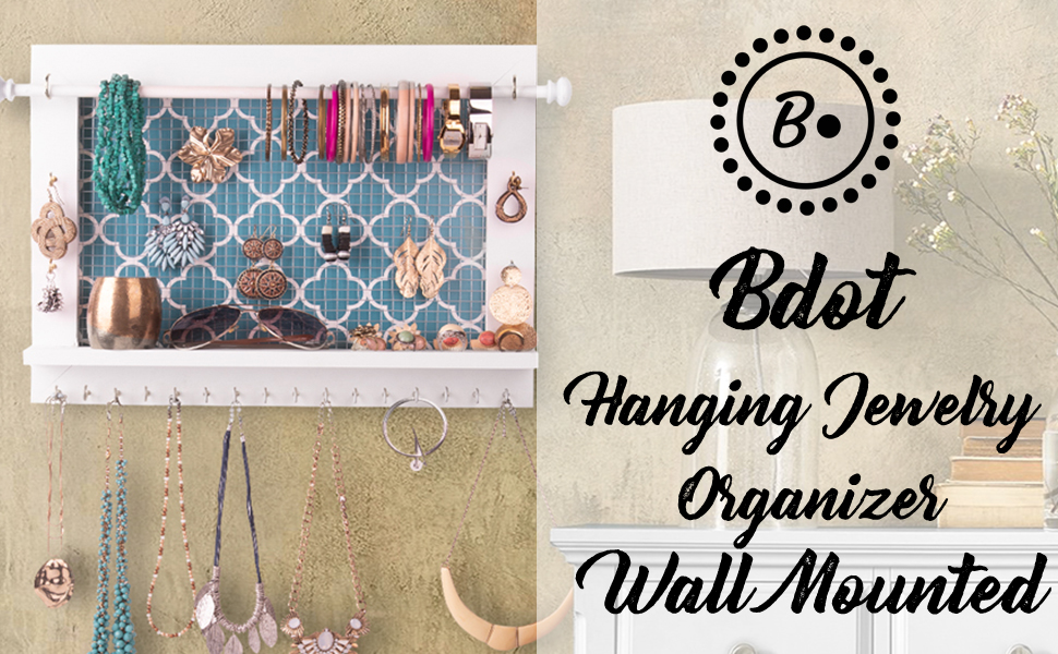 Beautiful Hanging Jewelry Organizer