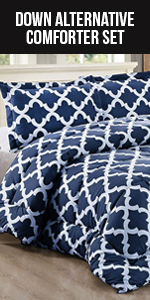 Down Alternative  3 Pieces Comforter Set