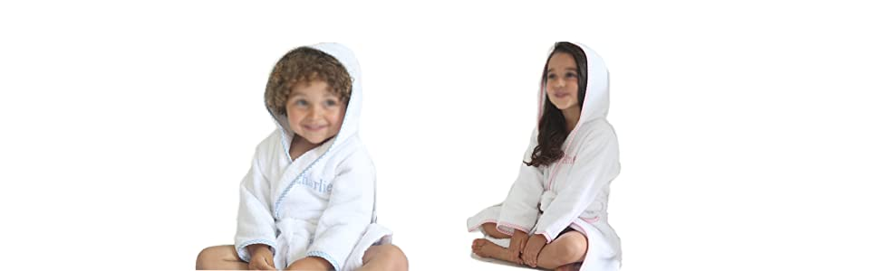 kids hooded bathrobes