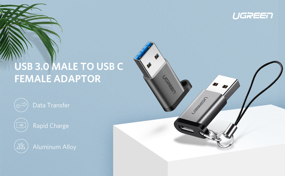 USB 3.0 to Type C Adapter USB C Female to USB3 Male Converter for Samsung, Huawei Mate, OnePlus 7