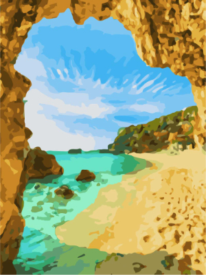 MaileKai Creates Beach Arch Paint by Numbers Kit