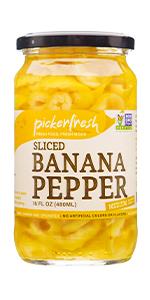 Pickerfresh Sliced Banana Pepper