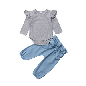 baby flying romper tops jeans pants outfits