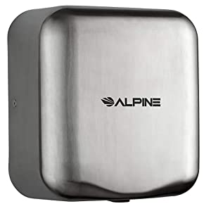 Quick /& Easy Installation Alpine Hemlock Automatic Hand Dryer Heavy Duty Stainless Steel 1800Watts 110-120Volts Commercial High Speed Hot Air Hand Blower