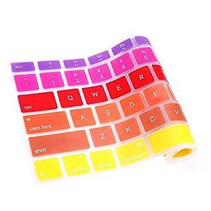 Rainbow Purple Yellow keyboard skins USA version A2179