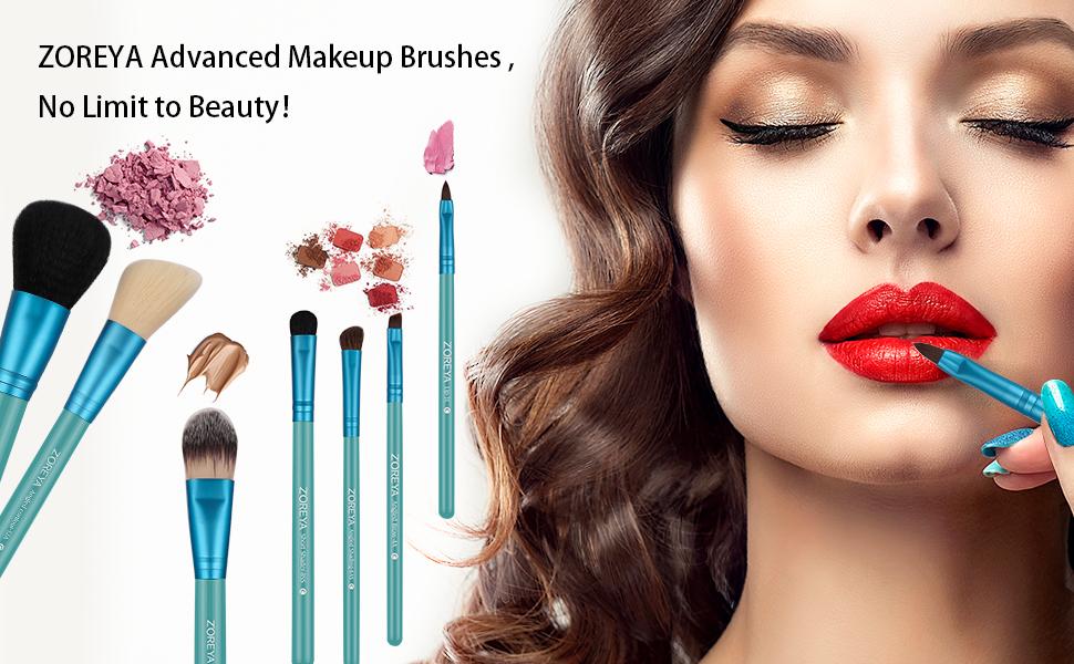 makeup brush set zoreya