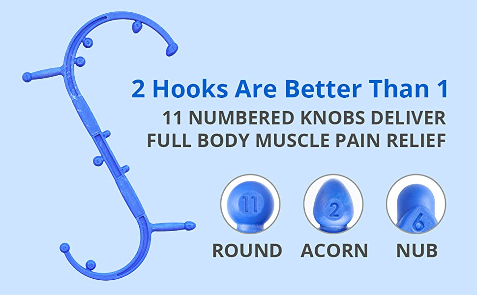 hook myofascial release stress relief physical therapy equipment massage bar muscle hook s shaped