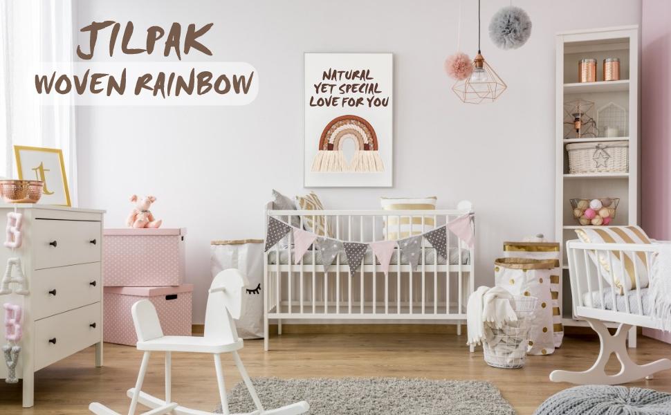 Framed Macrame Rainbow Neutral Shades Macrame Rainbow Hygge Christmas Gift Rainbow Arch Hygge Decor Boho decor