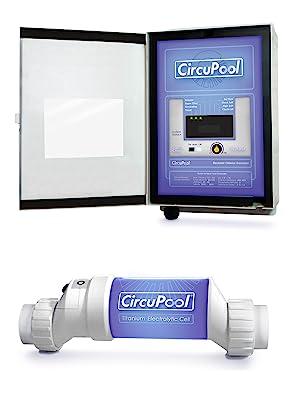 Electronic Digital Controls and Titanium Salt Cell for CircuPool Universal40 Saltwater Chlorinator