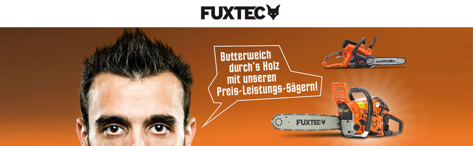 FUXTEC Benzin Kettensäge FX-KS162 Schwert 45 cm Kette 62 cc Motorsäge MS  Motorkettensäge PS Säge HeimwerkerPraxis Testnote 1,7: Amazon.de: Baumarkt
