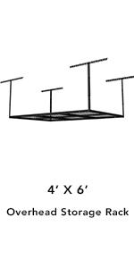 4x6 overhead storage rack