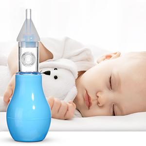 Aspirador Nasal, Limpiador Nasal Bebe, Bebé Aspiración Mucosa Succión Reutilizable, Mejor Para alivio de la congestión nasal infantil, 100% seguro mocos limpiador(rosa+ Azul): Amazon.es: Bebé