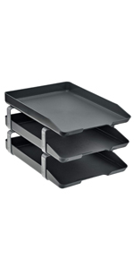 acrimet traditional letter tray 3 tier front load black color