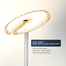 super bright led floor lamp dimmable reading lamp for office floor lamps for bedrooms craft work led