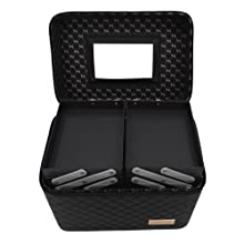 Store2508 Professional Beauty Make Up Case Nail Cosmetic Box Vanity Case (28 * 23 * 19 Cm) (Black)