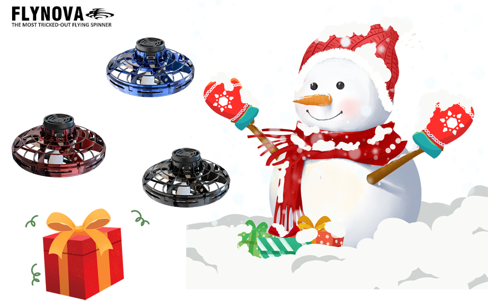 Flying Toy Mini Drone with 360/° Rotating and Shinning LED Lights UGszqm FlyNova Flying Toy Blue Fun Flying Toys Interacting Between Family and Friends Hand Operated Drones for Kids or Adults