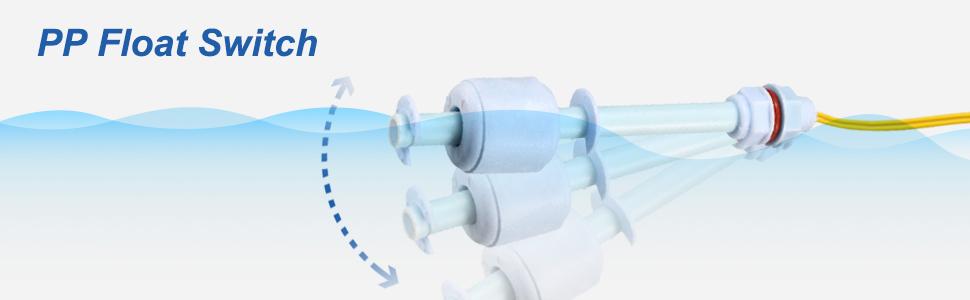 100V DC Vertical Water Level Sensor Fish Tank Aquarium Floating Switch