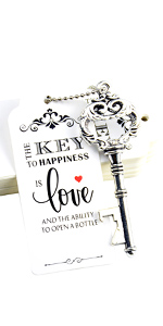 key opener wedding favor key opener wedding favor silver key opener wedding favor tag