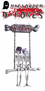 Scary Ghost Bone Bride Groom Welcome Sign Decor