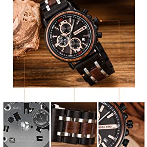 military watches for men wood watch