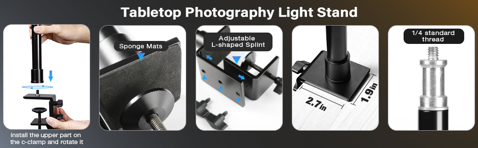tabletop photography light stand