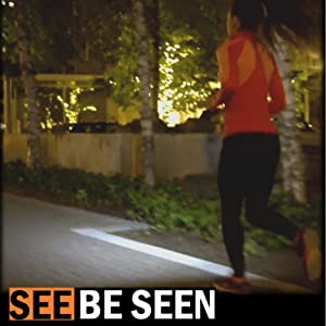 LED Running Flash Light Bright Illumination for Running at Night, Walking in The Dark Hiking Camping