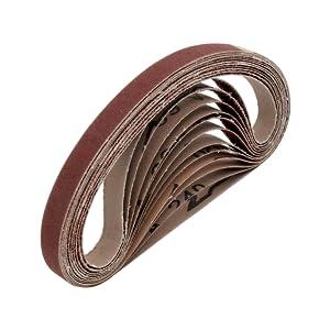 Mixed Power File Belts 48 Pieces Fabric Sanding Belts 13x451mm Grit Black Decker