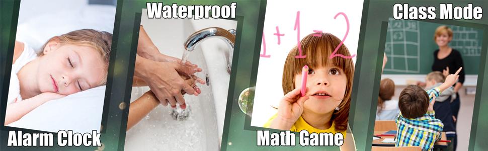 Kids gps smartwatch gps tracker waterproof watch phone class mode alarm clock math game boys girls