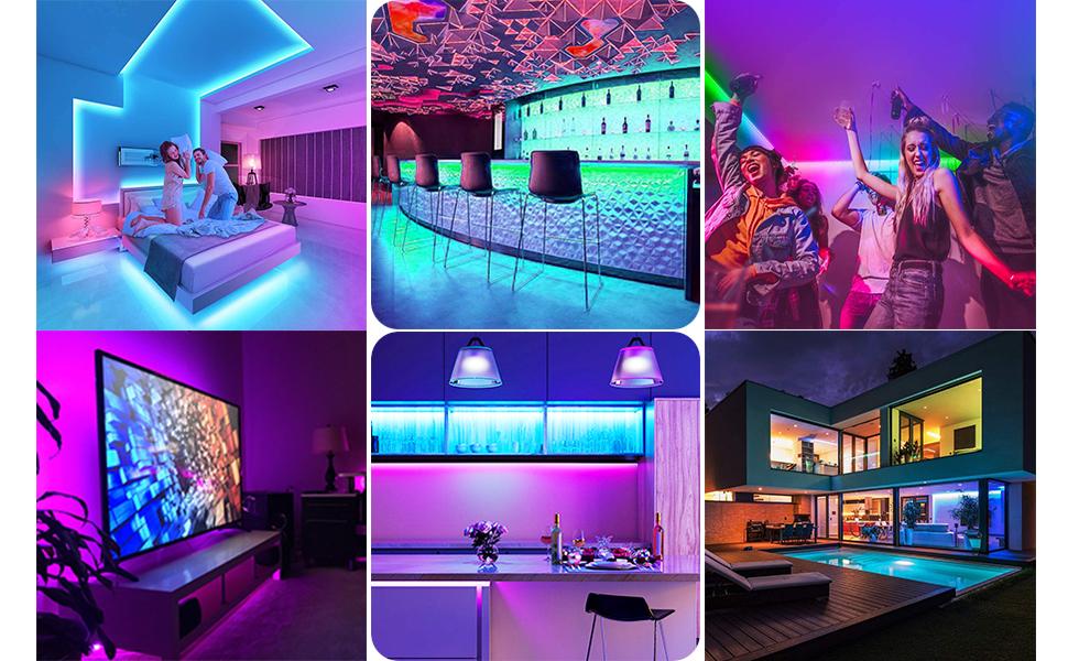 50Ft LED Strip Lights  App Controlled LED Lights Rope Lights for Home, Party, TV, DIY Decoration