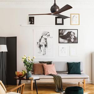 transitional ceiling fan, 3-blade, living room