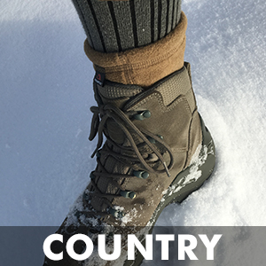country hiking trekking trail snow cold ice climbing hunting fishing walking socks boots