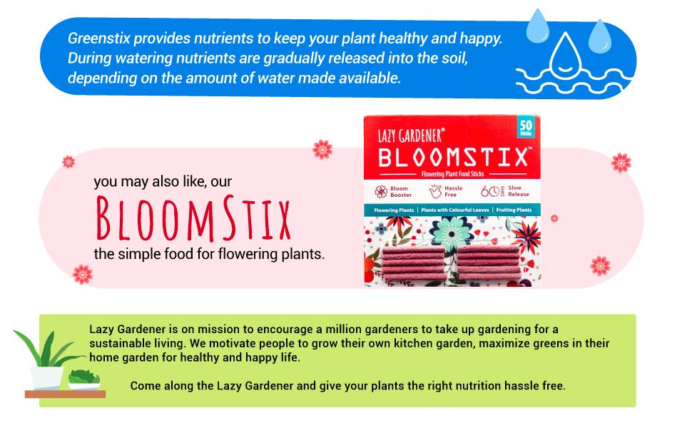 Bloomstix for flowering plants, lazy gardener stix, bloom-booster