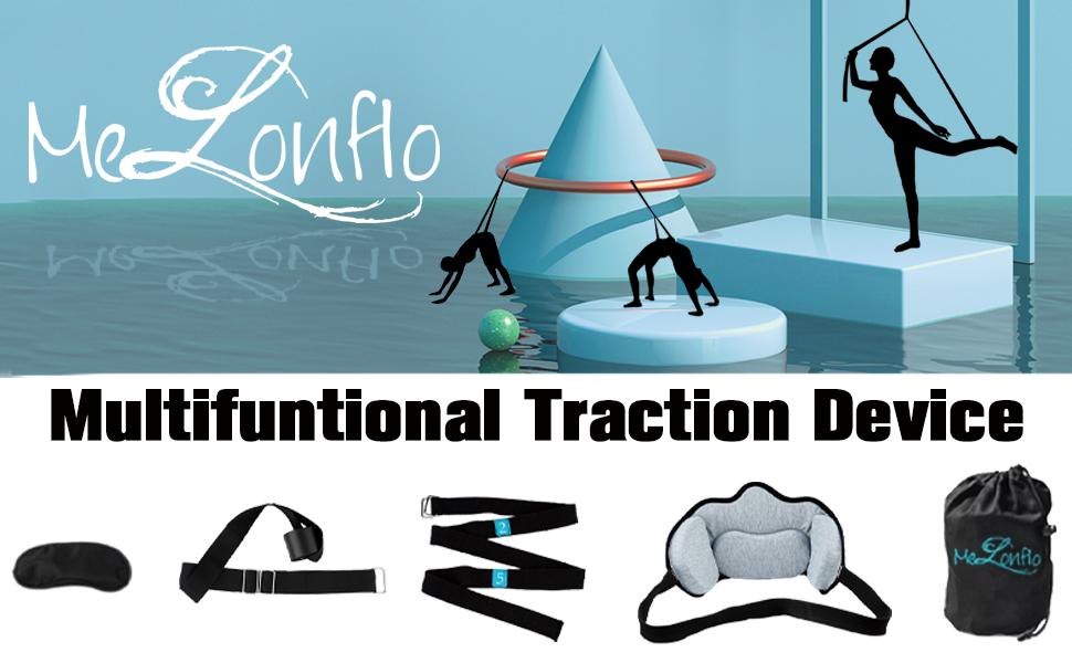 neck hammock neck cervical  traction yoga strap traction device melonflo neck hammock