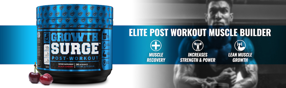 Growth Surge Black Cherry - Elite Post-Workout Muscle Builder