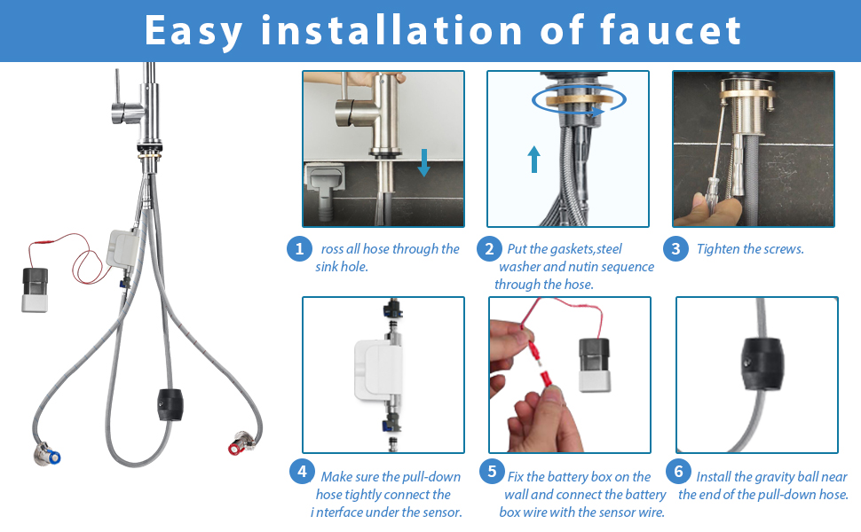 Kitchen Sink Faucet Touchless