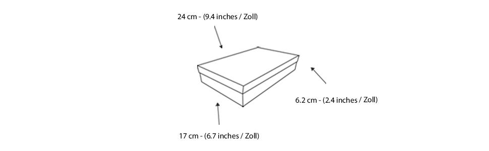 Dunkelgraue Box mit Wei/ßem Streifendeckel 24 cm x 17 cm x 6,2 cm Schwarzes Band und Bedrucktes Interieur Emartbuy Starrer Luxus Rechteckige Pr/äsentations-Geschenkbox