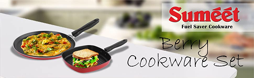 SUMEET BERRY COOKWARE SET