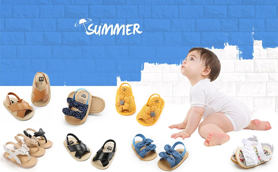 Baby Girl Sandals Summer Crib Shoes Bowknot Soft Sole Infant Girls Princess Dress Flats First