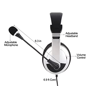 wired over ear headset for pc computer