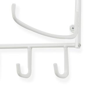 "19"" yoga mat foam roller white wall mount storage rack towel rack thin yoga mat metal shelving unit"