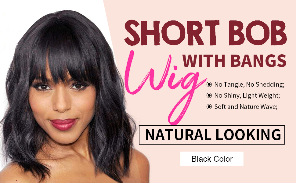 wig with bangs short wigs for black women