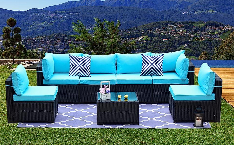 Outdoor Sectional Rattan Sofa Set