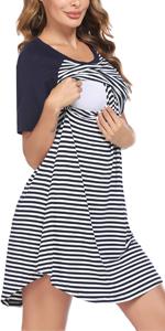 Women's Nursing Nightgown for Breastfeeding