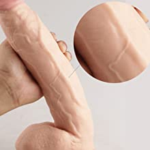 A flexible yet stiff dildo, willing and ready