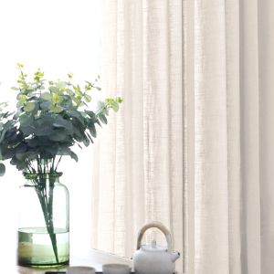 natural linen curtains for bedroom