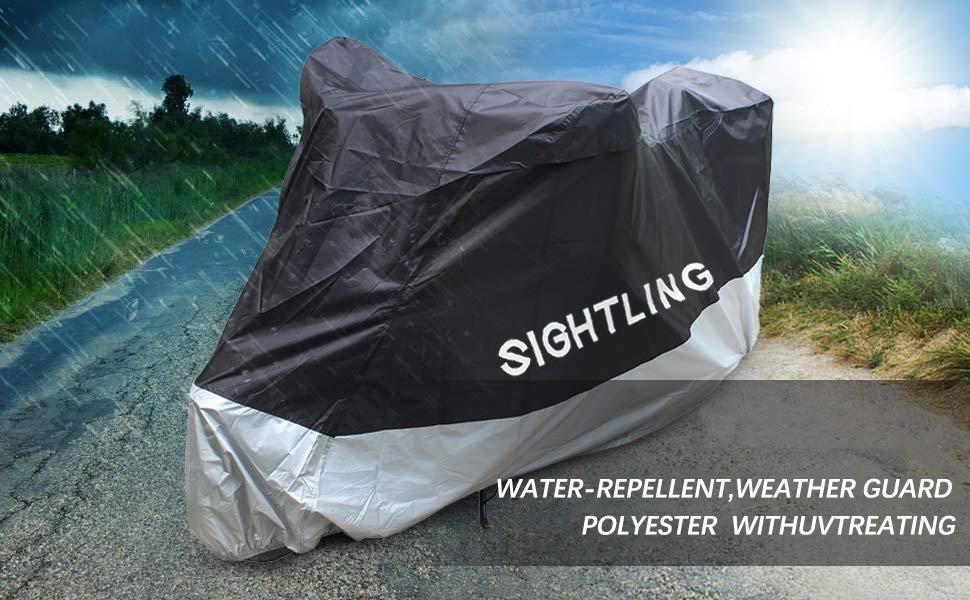 Star-Trade-Inc 265x105x125CM XXXL Motorcycle Cover Waterproof Rain Dust UV Protector All Weather Rain Heavy Duty Motorcycle & ATV