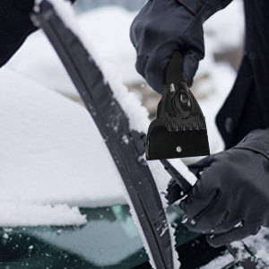 Eisschaber mit Wasserdichtem Warmen Handschuhen Winter Professionell Langlebig Stabil Schneeschaufel f/ür Auto Windschutzscheibe Side Windows Schneeschaufel Karvipark Eiskratzer Auto Set