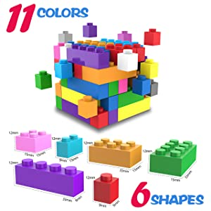 11 colors and 6 shapes