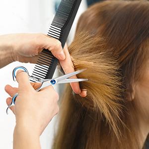 Hair cutting scissors 9